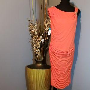 Per Se Scrunched Bodycon Dress size 12 NWT